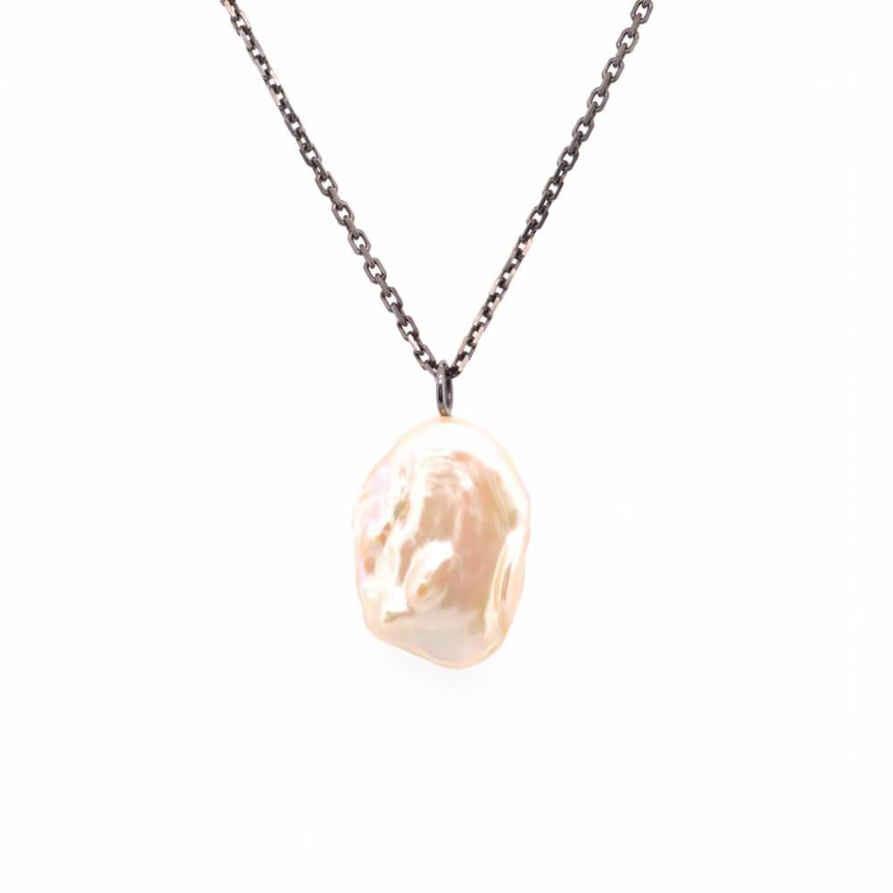 Stříbrný náhrdelník BAROKNÍ PERLA B