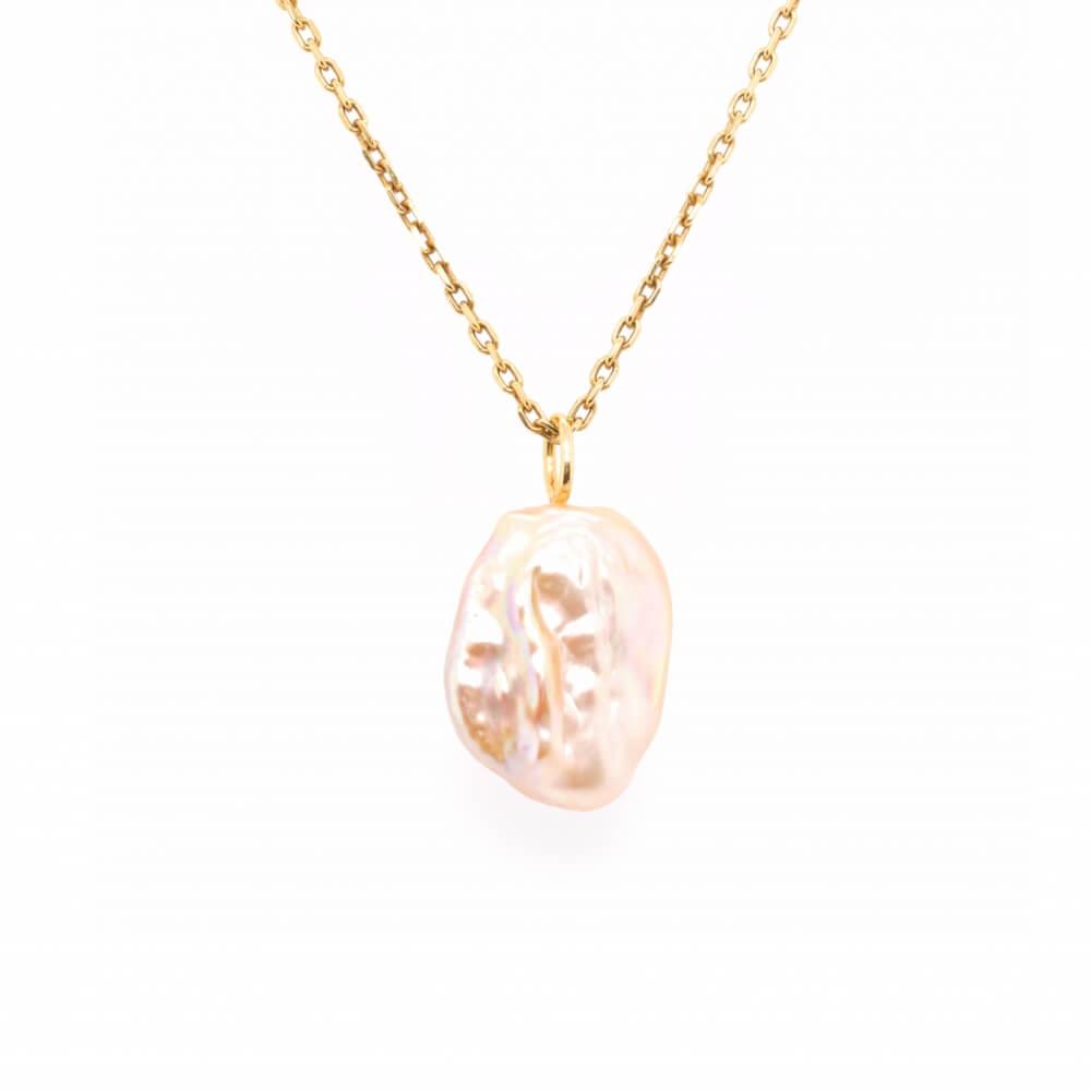 Stříbrný náhrdelník BAROKNÍ PERLA Y