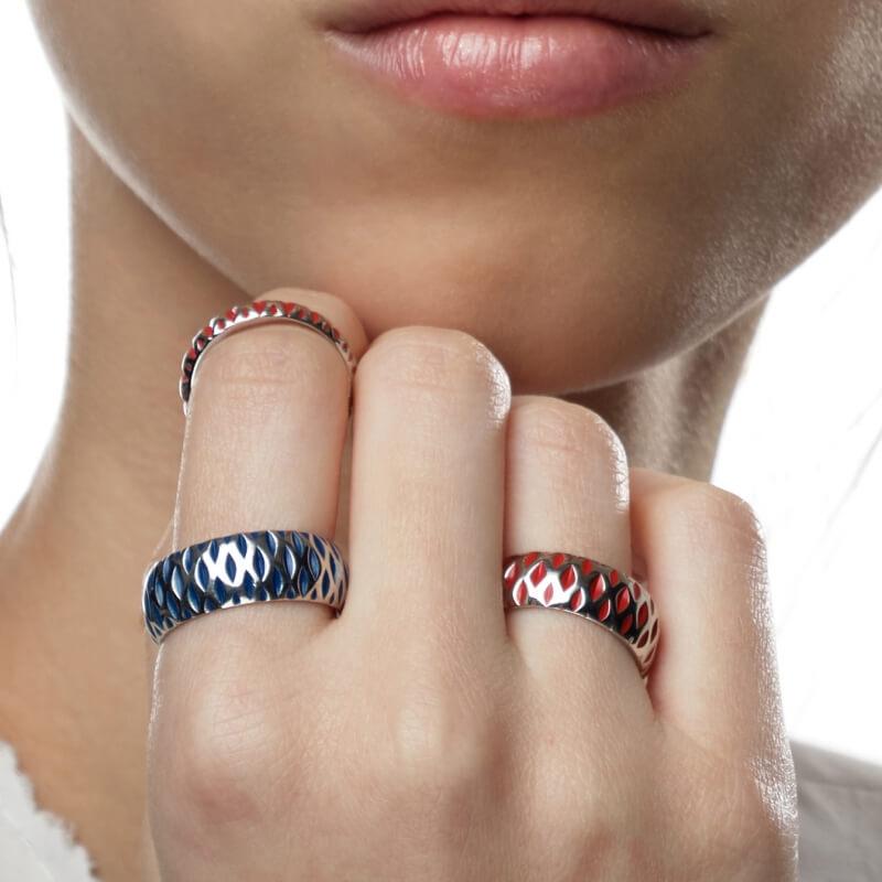 Stříbrný prsten DUO S