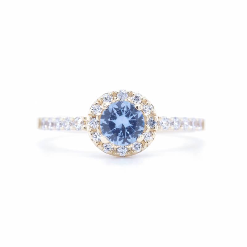 Zlatý prsten AKVAMARINUS Y